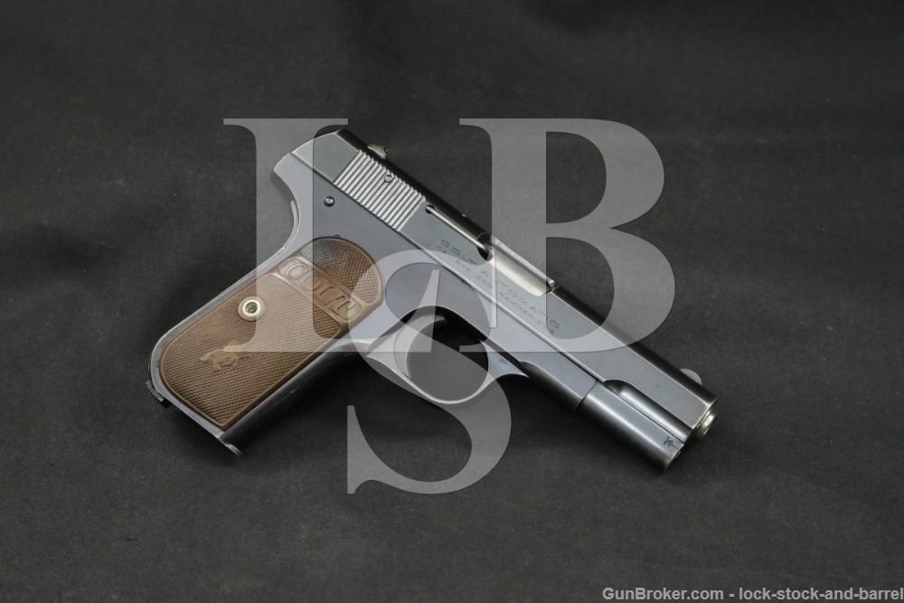 Colt Model 1908 Pocket Hammerless .380 ACP Semi-Automatic Pistol, 1924 C&R