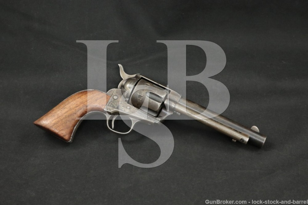 Colt Single Action Army SAA 1873 US Artillery .45 Revolver, 1891 Antique