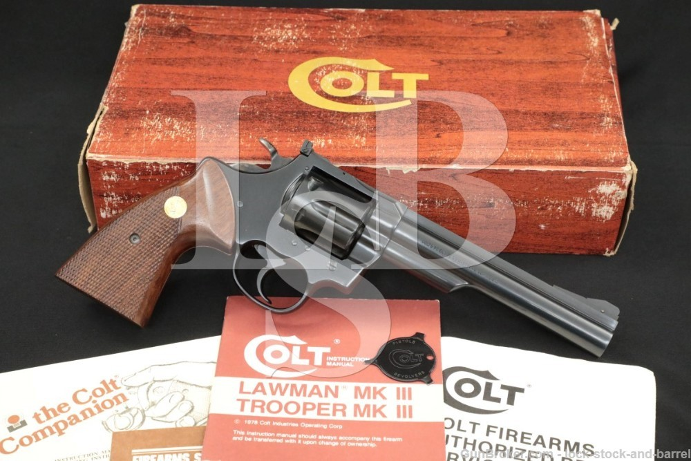 Colt Trooper MKIII J4261 .357 Mag Double Action Revolver & Box, 1978