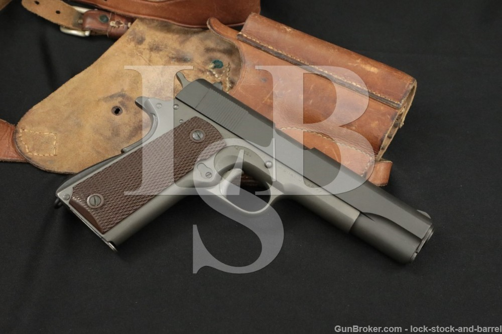 Colt US Army Model of 1911A1 .45 ACP Semi-Auto Pistol & Holster, 1943 C&R
