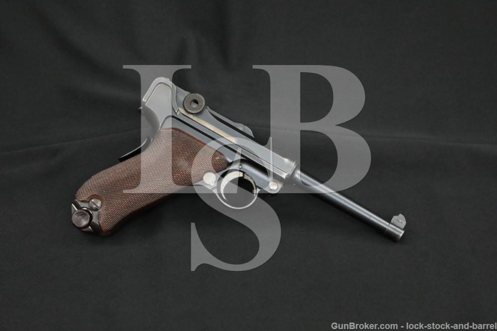 DWM 1906 Portuguese Army 1909 M2 7.65 .30 Luger Semi-Auto Pistol, 1909 C&R