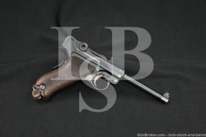 DWM Model 1906 American Eagle 7.65mm .30 Luger Semi-Auto Pistol 1910-12 C&R