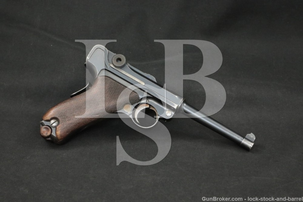 DWM Model 1906 American Eagle 7.65mm .30 Luger Semi-Auto Pistol 1910-13 C&R