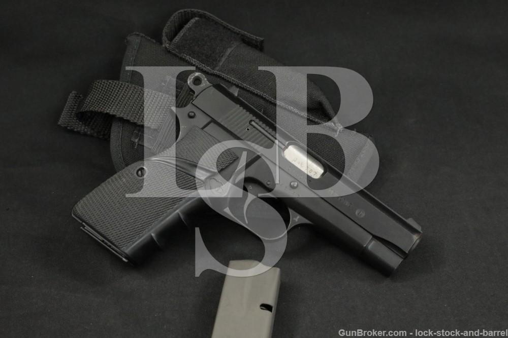 FM Argentine M90 Hi-Power Detective 9mm SA Semi-Auto Pistol 1969-1989