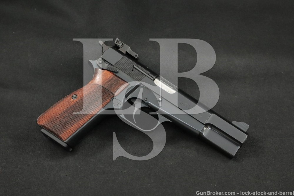 """FN Browning Portugal Hi-Power 9mm Luger 4 5/8"""" Semi-Automatic Pistol, 1989"""