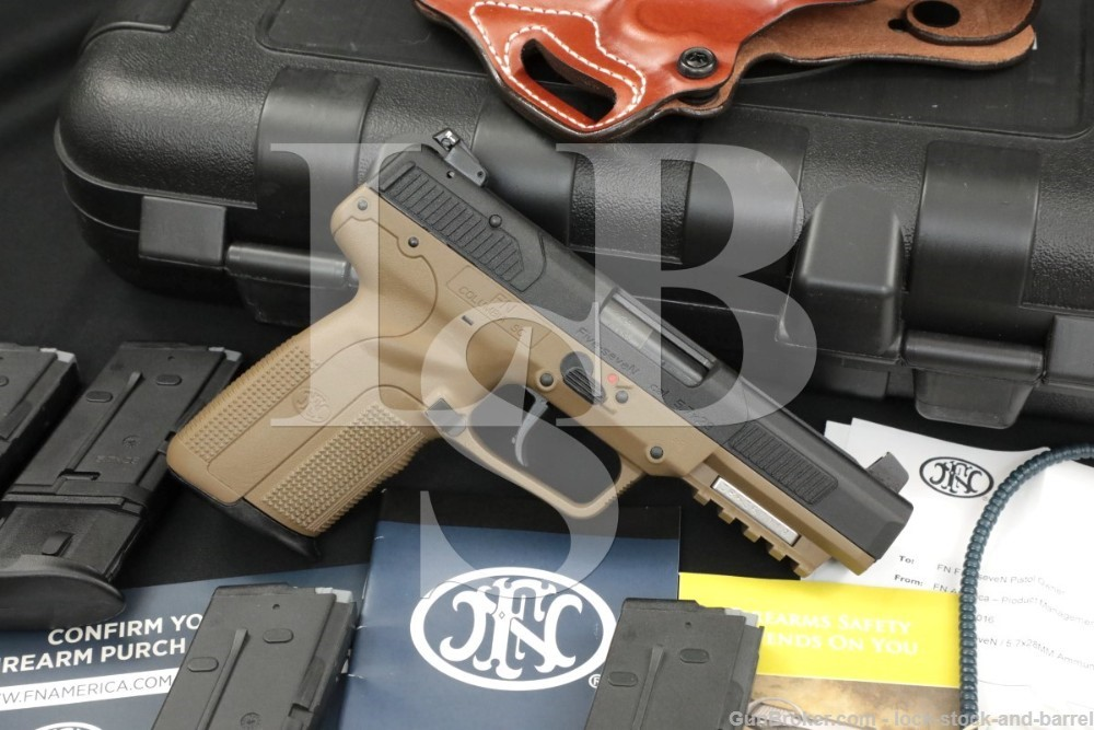 FN Herstal FNH Five-SeveN 5.7x28mm Semi Auto Pistol, Box, 5x Mags & Holster