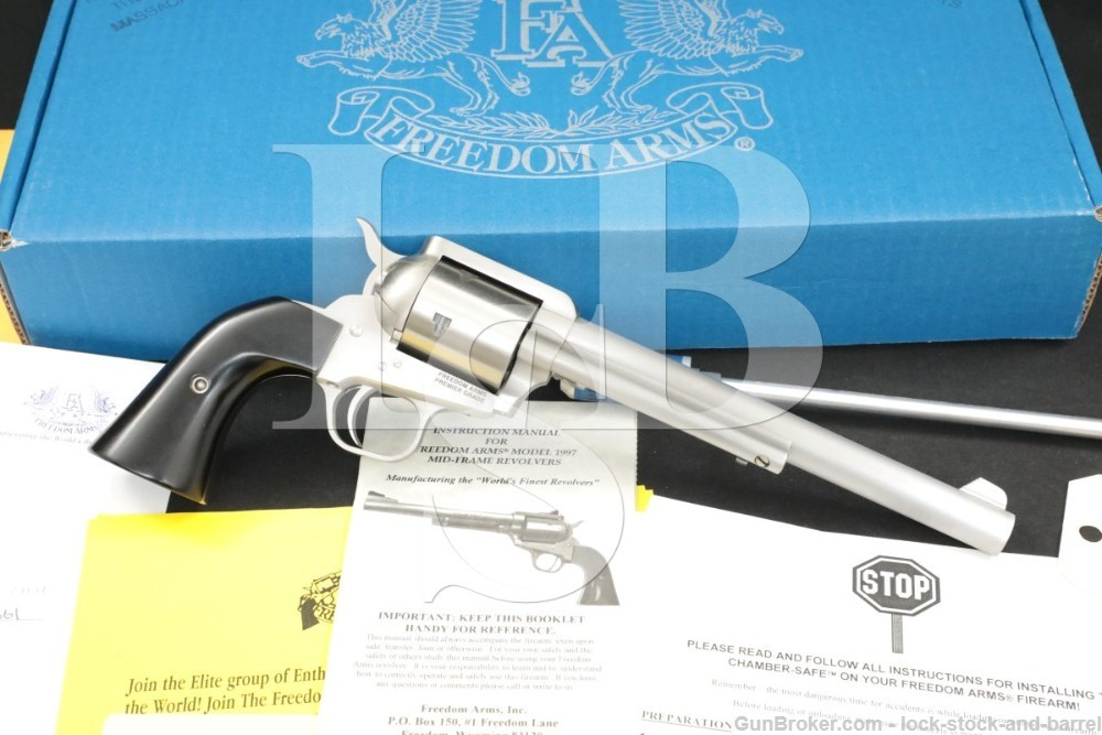 """Freedom Arms Model 1997 97 .45 Colt LC 7.5"""" Single Action Revolver"""