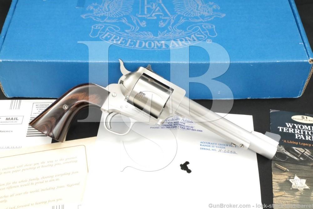 "Freedom Arms Model 353 Premier Grade .357 Mag 6"" Single Action Revolver"