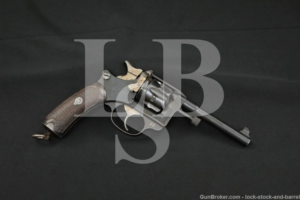 French St Etienne Model 1892 8mmx27R SA/DA Revolver, MFD 1987 Antique