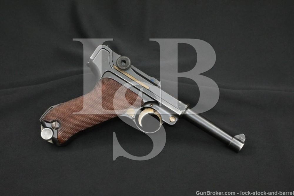 G-code Pre-WWII Nazi German S/42 Mauser Luger 9mm Semi-Auto Pistol 1935 C&R