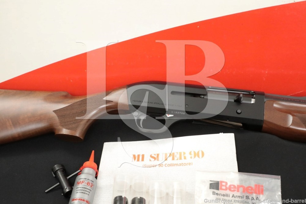 "HK Benelli M1 Super 90 12 Ga. 28"" Semi-Automatic Shotgun & Box, 1994"