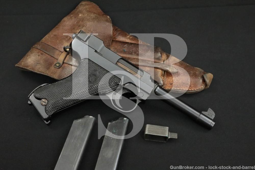 Husqvarna Swedish M/40 M40 Lahti 9mm Semi-Automatic Pistol, 1941-1946 C&R