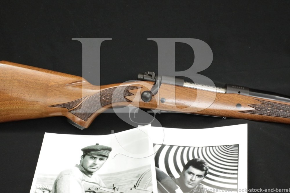"James Darren Winchester 70 .375 H&H Magnum 24"" Bolt Action Rifle 1966 C&R"
