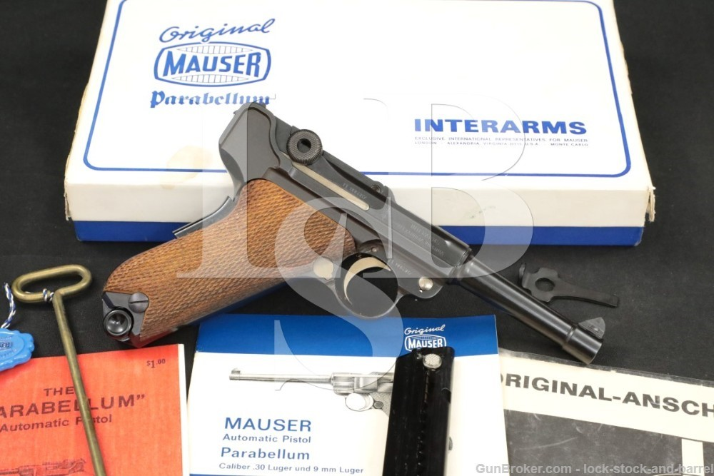 Mauser American Eagle Luger Parabellum 9mm Semi-Auto Pistol, 1970s ATF C&R