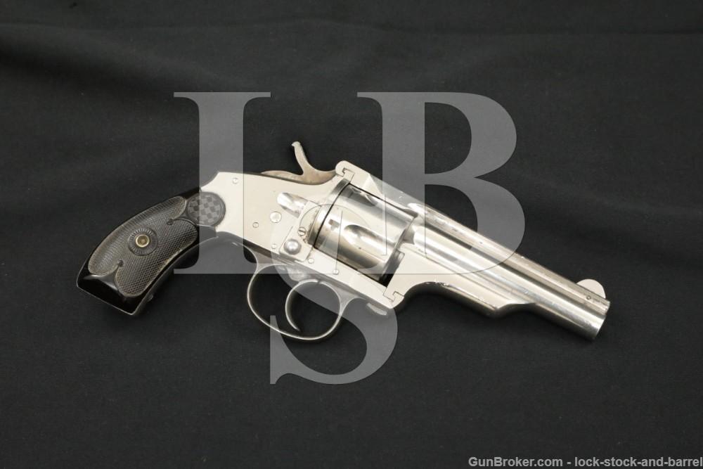 "Merwin & Hulbert Medium Frame Double Action .38 S&W 3.5"" Revolver Antique"