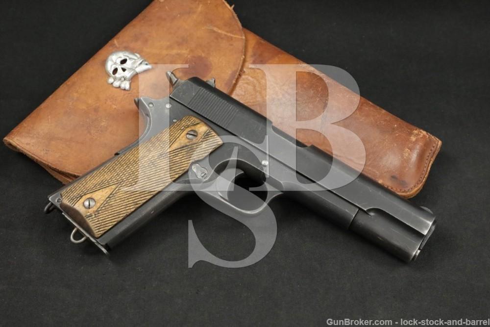 Nazi Occupied Norwegian M-1914 Kongsberg Colt 11.25mm Semi-Auto Pistol, C&R