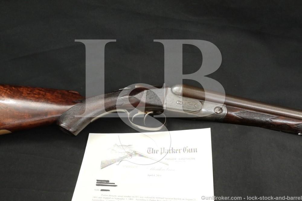 "Parker Brothers CH Grade 4 Hammerless 28"" 12 GA SXS Shotgun, 1891 Antique"