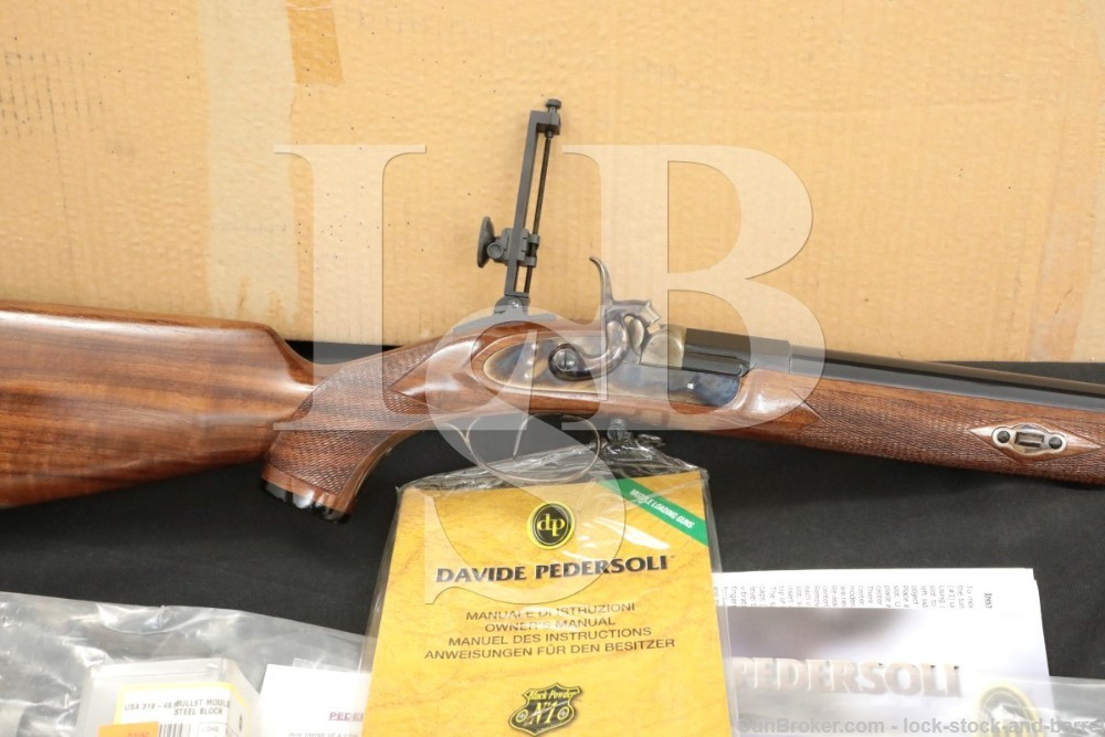 Pedersoli Gibbs .45 Caliber Percussion Target Rifle & Box, 2008 ATF Antique