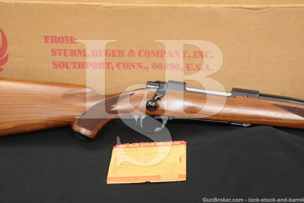 Ruger M77ST M-77-ST Pre Warning Round Top .257 Roberts Bolt Rifle, MFD 1972