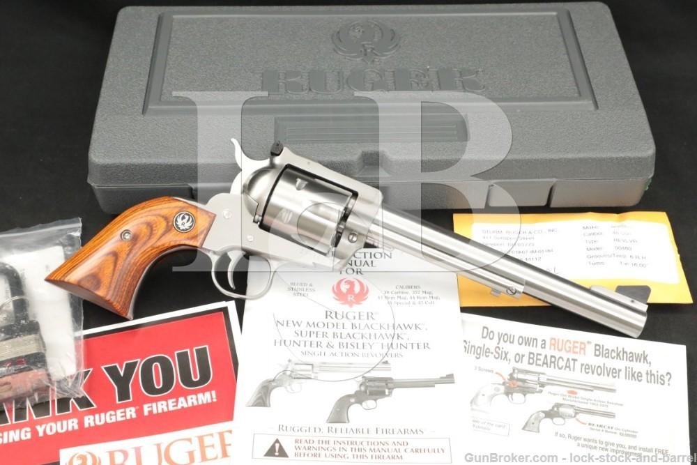 Ruger New Model Super Blackhawk 00460 45 Colt Stainless Revolver, MFD 2014