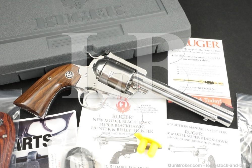 Ruger New Model Super Blackhawk Bisley .454 Casull Stainless Revolver, 2015
