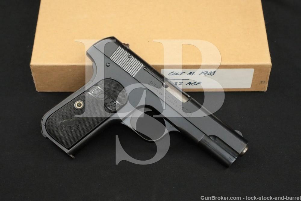 SHARP Colt Model 1903 Pocket Hammerless .32 ACP Semi-Auto Pistol, 1923 C&R