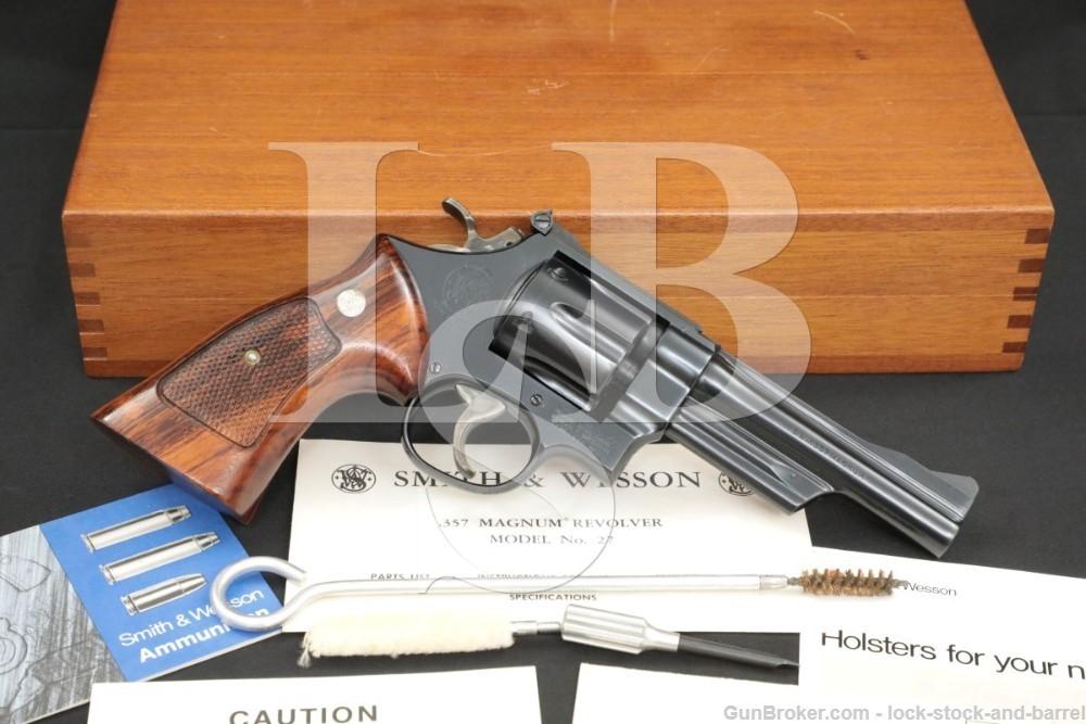 "Smith & Wesson S&W Model 27-2 .357 Magnum 5"" DA/SA Revolver, MFD 1973"