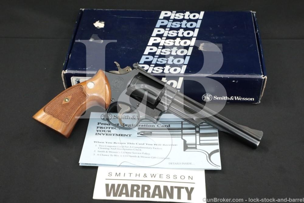 """Smith & Wesson S&W Model 53-2 .22 Remington Jet 6"""" DA/SA Revolver 1966 C&R"""