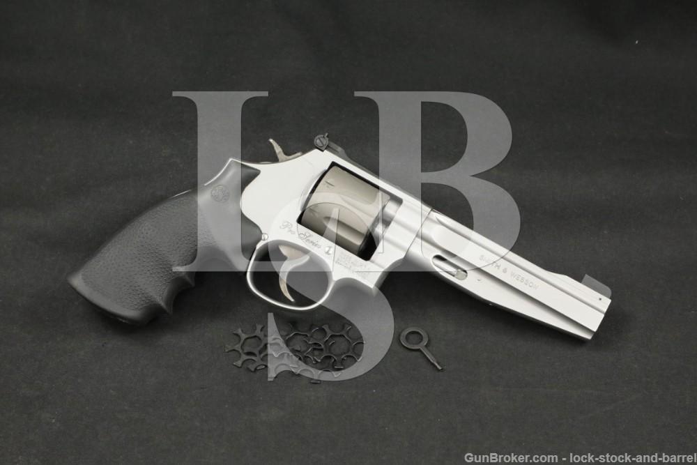 """Smith & Wesson S&W Model 986 Pro Series 9mm 5"""" 7-Shot DA/SA Revolver"""