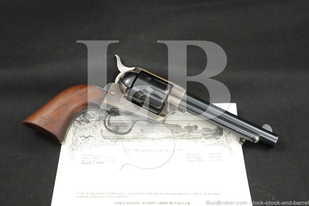 U.S. 1873 Artillery Colt .45 SAA Single Action Army Revolver, 1887 Antique