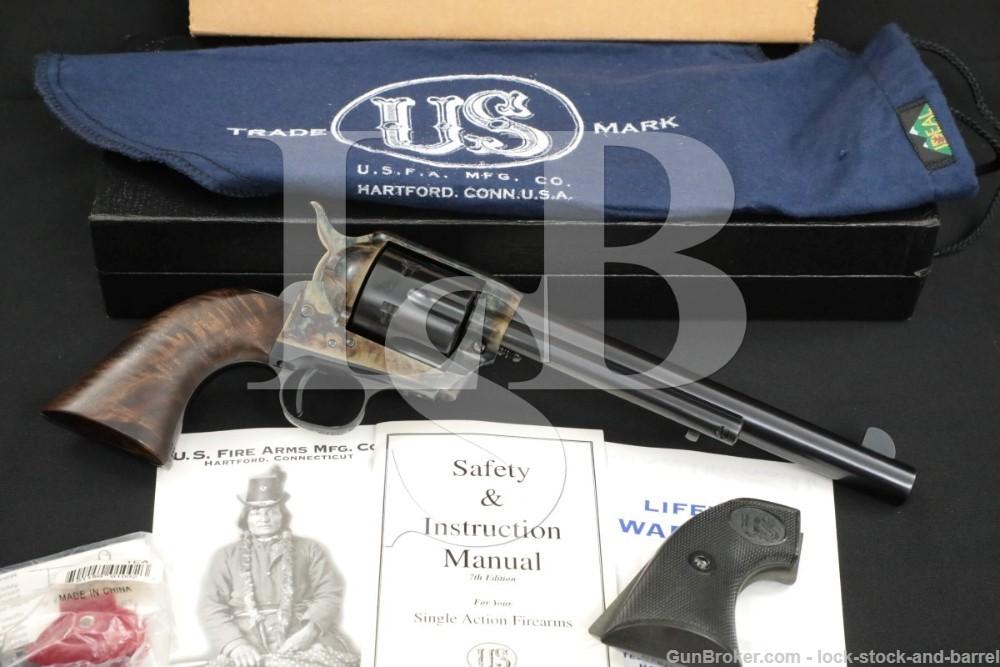 "USFA U.S. Firearms USA Single Action Army SAA Blue 7 1/2"" .45 Colt Revolver"