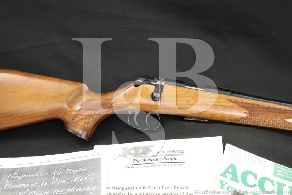 Voere Kleinguenther KDF K-22 K22 Titan Deluxe .22 LR Bolt Rifle, MFD 1984