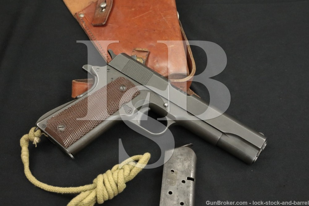 WWII British Lend Lease Remington Rand 1911A1 & Shoulder Holster, 1944 C&R