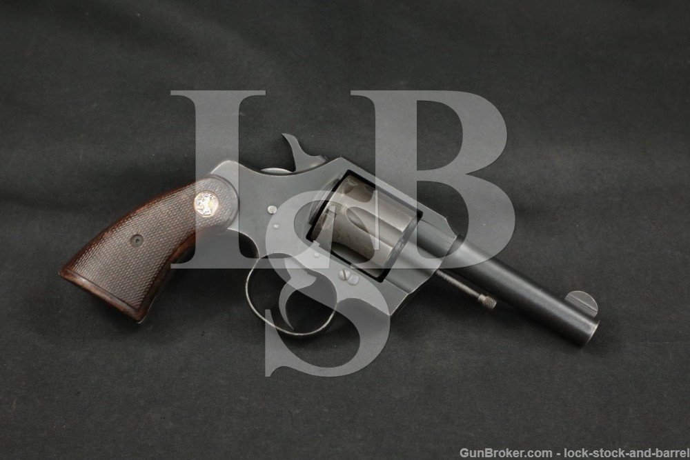 WWII Early 4-Digit Colt Commando AAC Marked .38 Special Revolver, 1942 C&R