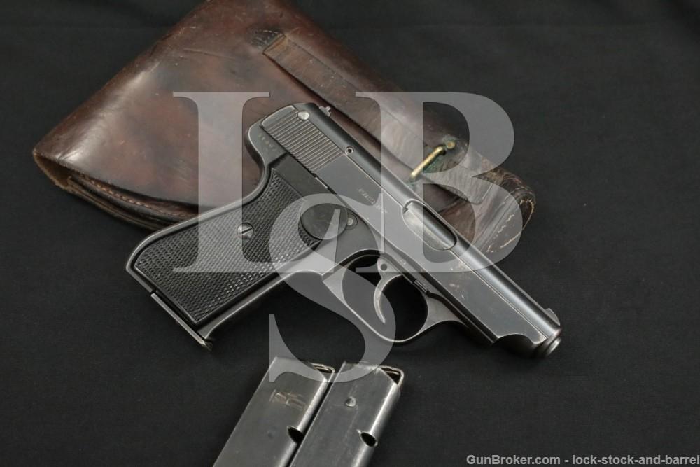 WWII Nazi Police JP Sauer & Sohn 38H 38-H 32 ACP 7.65 Semi-Auto Pistol C&R