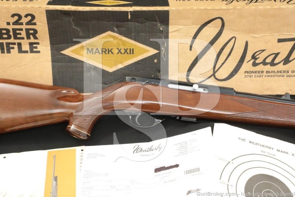 Weatherby Japan KTG Mark XXII MK-22 .22 LR Blue Sling Bolt Rifle, 1967-1971