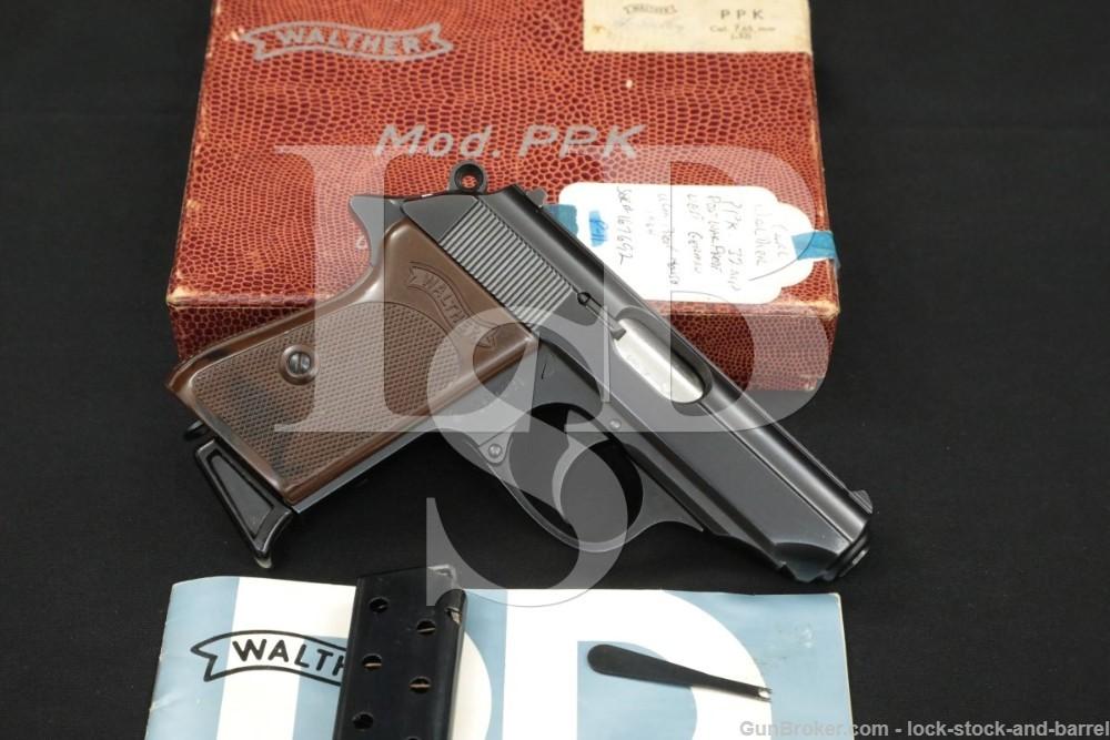 West German Walther PPK .32 ACP 7.65mm Semi-Automatic Pistol, MFD 1964 C&R