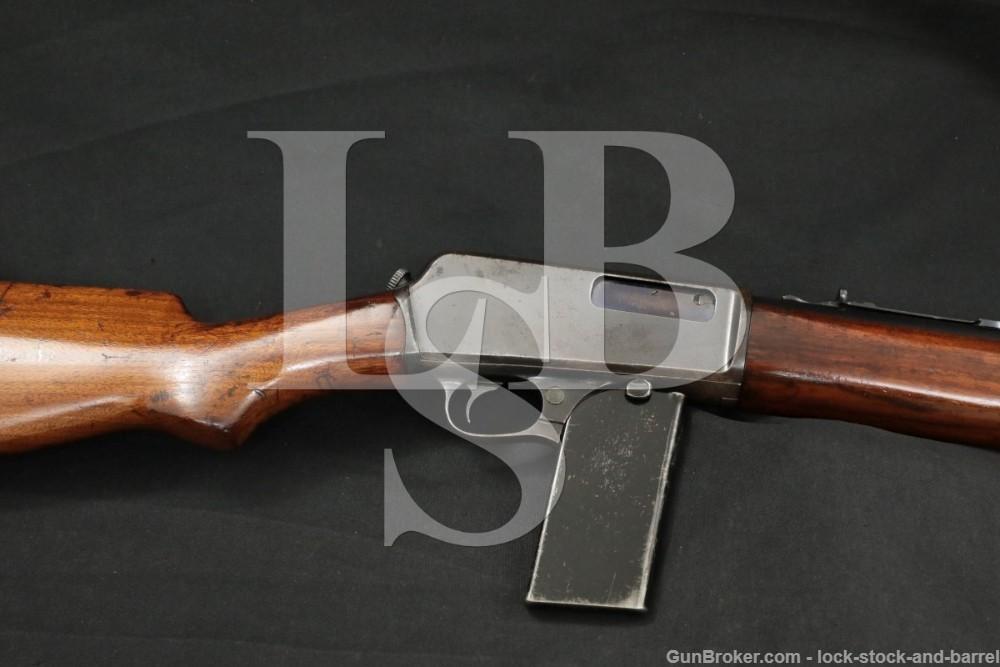 Winchester Model 07 S. L. (1907) Threaded Barrel Semi Auto Rifle, 1927 C&R