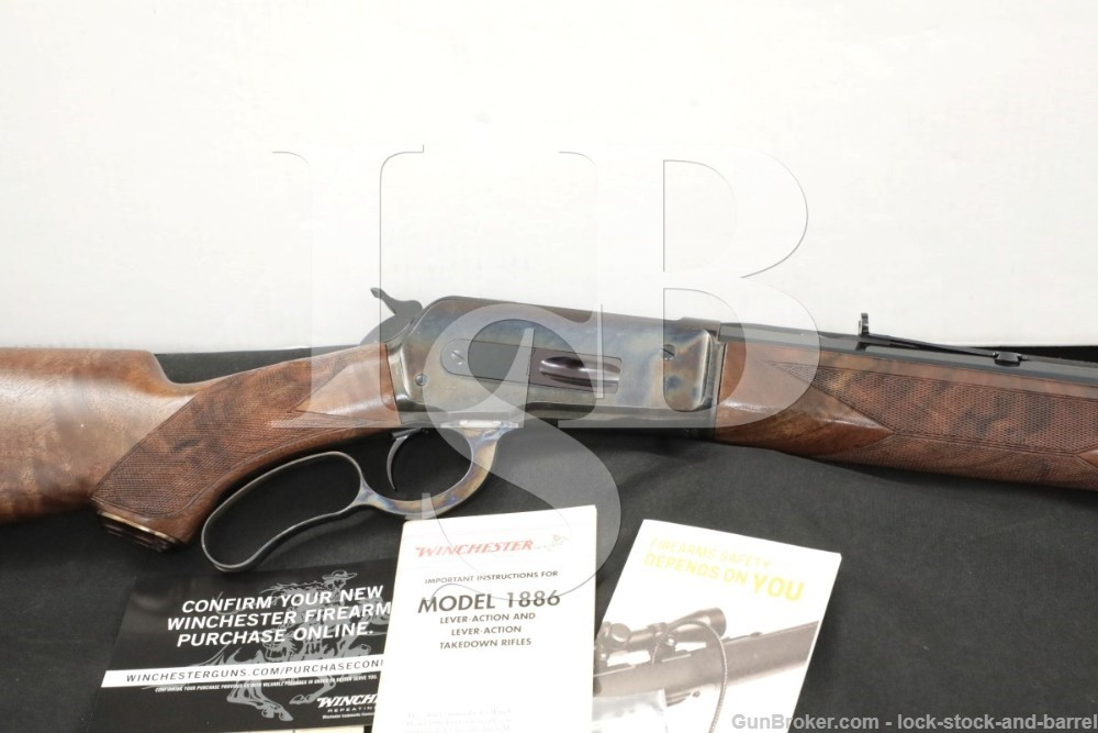 """Winchester Model 1886 Deluxe 24"""" .45-70 Gov't Lever Action Rifle, MFD 2018"""