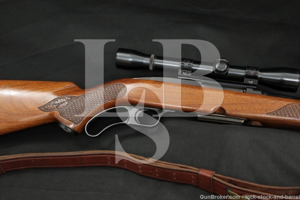 """Winchester Model 88, .308 Win 22"""" Lever Action Rifle & Scope, MFD 1965 C&R"""
