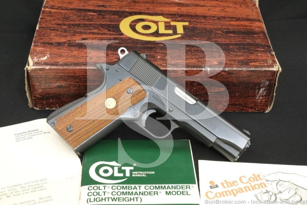 Colt Combat Commander .45 ACP Blue Semi-Auto Pistol & Box, 04612, MFD 1978