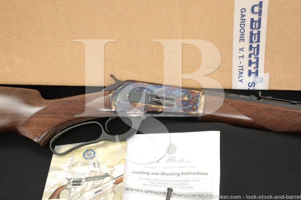 Uberti Winchester Model 1886 Deluxe Sporting 26″ .45-70 Lever Action Rifle