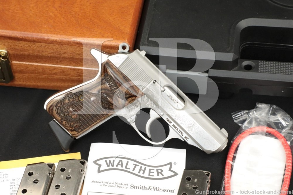 Smith & Wesson S&W Walther PPK/S-1 PPK/S .380 Engraved & Presentation Case