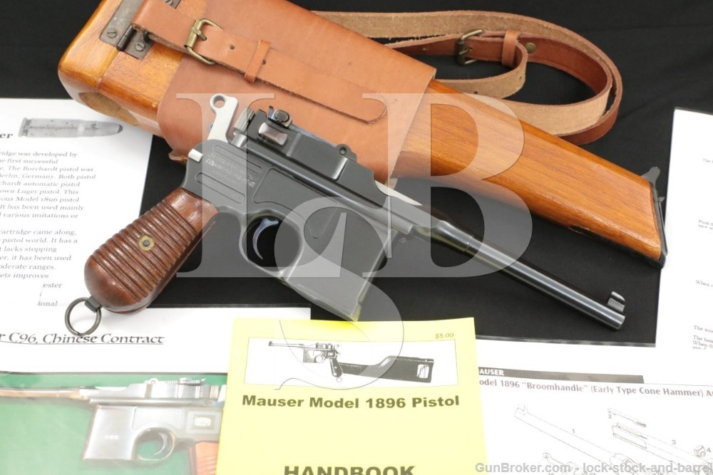 Chinese Marked Mauser M1930 Like C96 Broomhandle .30 Semi-Auto Pistol, C&R