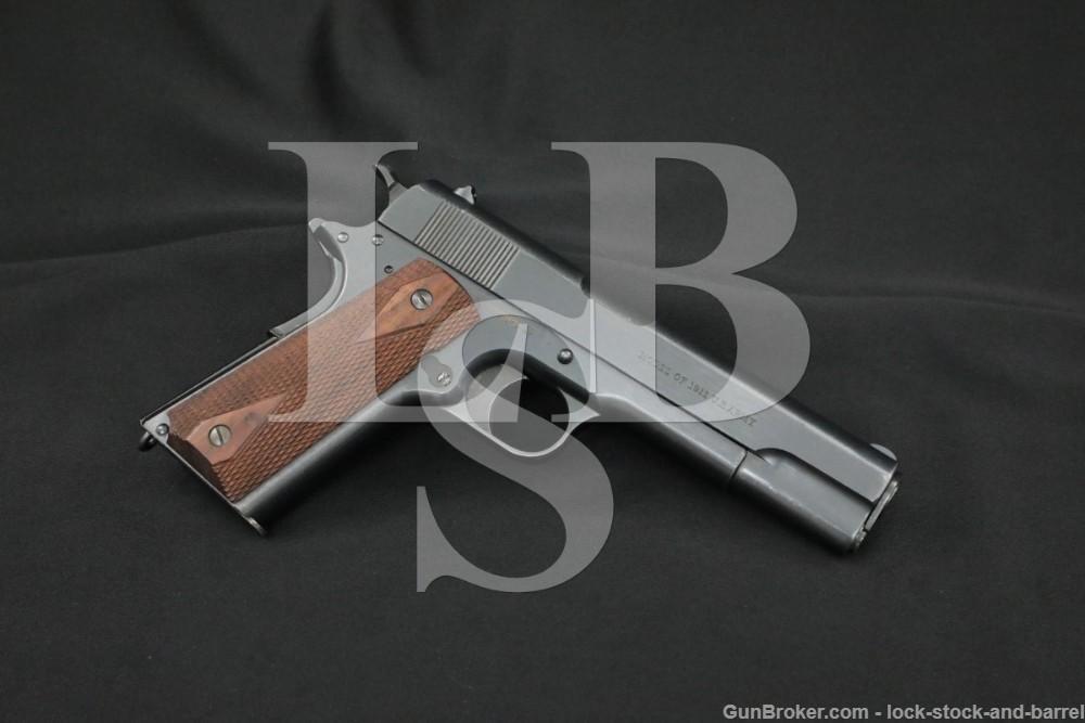WWI Colt U.S. Army Model of 1911 .45 ACP Semi-Auto Pistol, MFD 1918 C&R