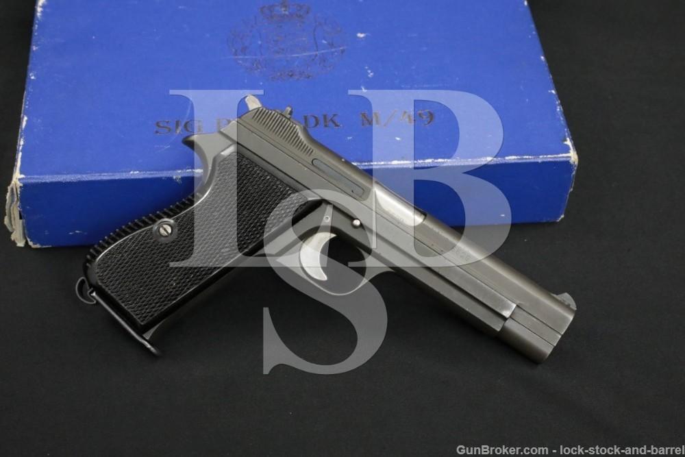 """Sharp! Dutch Military SIG Model P-210-DK 9mm 4 3/4"""" Semi-Auto Pistol C&R"""