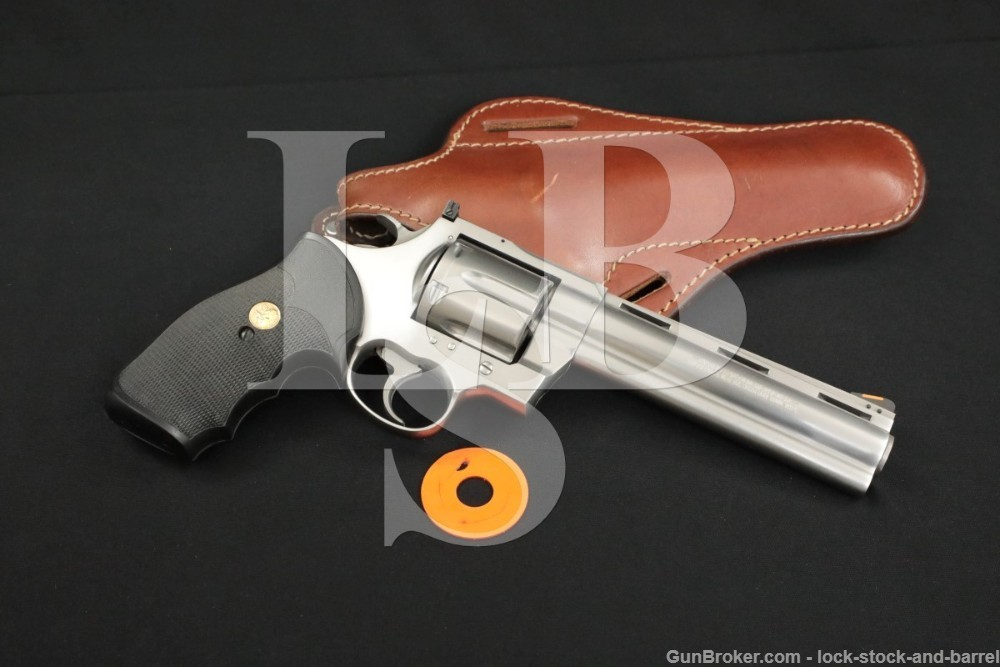 """Colt Anaconda Model .44 Magnum 6"""" Stainless Double Action Revolver MFD 1991"""