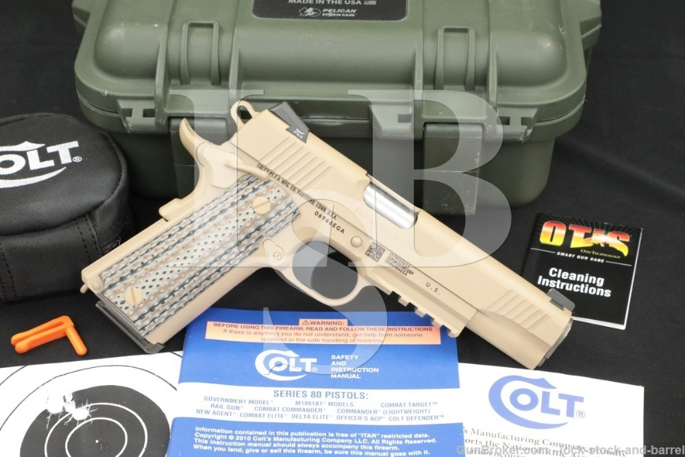 Colt Government Model Rail Gun, CQBP Marine M45A1 .45 ACP Pistol