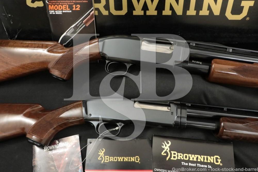 Browning Model 12 & 42 Grade I 20 Gauge & 410 Vent Rib Pump Action Shotguns