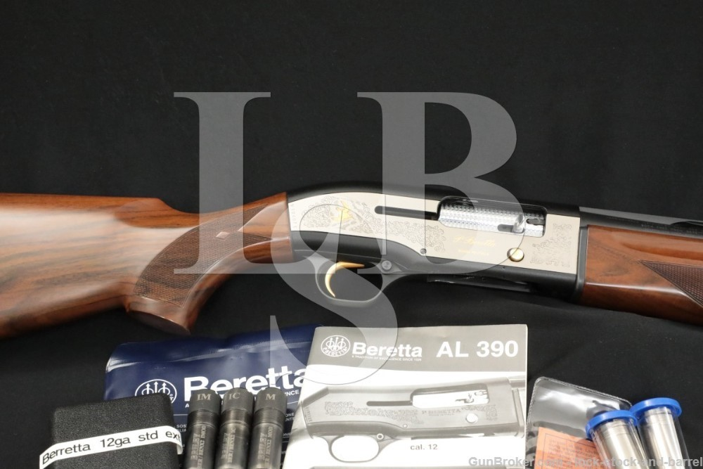 "Beretta Model AL390 AL-390 12 Ga. 28"" Engraved Semi-Auto Shotgun, MFD 1998"